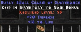 20 Defense w/ 15 Life SC
