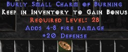 20 Defense w/ 4-8 Fire Damage SC