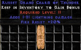 20 Resist Fire w/ 1-21 Lightning Damage GC