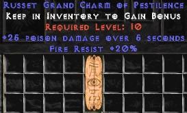20 Resist Fire w/ 25 Poison Damage GC