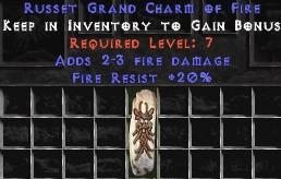 20 Resist Fire w/ 2-3 Fire Damage GC