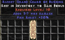20 Resist Fire w/ 3-7 Fire Damage GC
