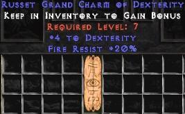 20 Resist Fire w/ 4 Dex GC