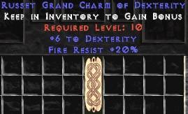 20 Resist Fire w/ 6 Dex GC