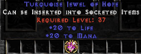 20 to Mana/20 to Life Jewel