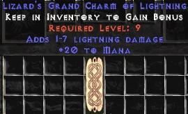 20 Mana w/ 1-7 Lightning Damage GC