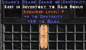20 Mana w/ 4 Dex GC