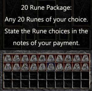 Multiple Rune Package 20 x Any Runes