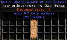 22 Defense w/ 3-7 Cold Damage GC
