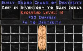 22 Defense w/ 6 Dex GC