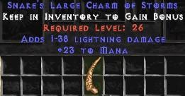 23 Mana w/ 1-38 Lightning Damage LC