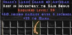 23 Mana w/ 50 Poison Damage LC