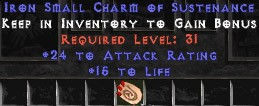 24 Attack Rating w/ 15 Life SC