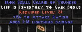 24 Attack Rating w/ 1-18 Lightning Damage SC