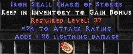 24 Attack Rating w/ 1-28 Lightning Damage SC