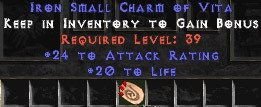24 Attack Rating w/ 20 Life SC