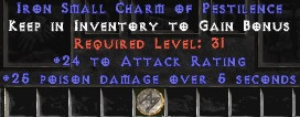 24 Attack Rating w/ 25 Poison Damage SC