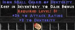 24 Attack Rating w/ 2 Dex SC