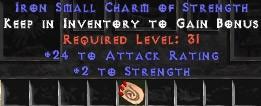 24 Attack Rating w/ 2 Str SC