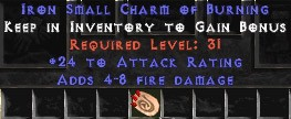 24 Attack Rating w/ 4-8 Fire Damage SC