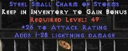25-32 Attack Rating w/ 1-28 Lightning Damage SC