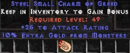 25-32 Attack Rating w/ 10% Gold Find SC