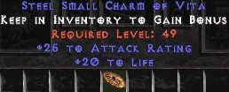 25-32 Attack Rating w/ 20 Life SC