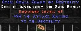 25-32 Attack Rating w/ 2 Dex SC