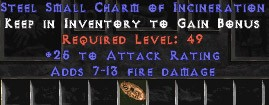 25-32 Attack Rating w/ 7-13 Fire Damage SC