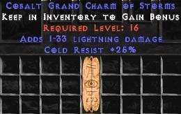 25 Resist Cold w/ 1-33 Lightning Damage GC