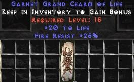 25 Resist Fire w/ 20 Life GC