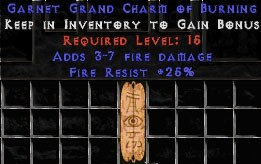 25 Resist Fire w/ 3-7 Fire Damage GC