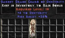 25 Resist Fire w/ 6 Dex GC