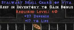 27-29 Defense w/ 16-19 Life SC