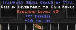 27-29 Defense w/ 20 Life SC