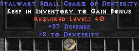 27-29 Defense w/ 2 Dex SC