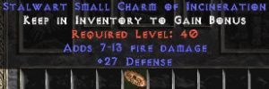 27-29 Defense w/ 7-13 Fire Damage SC