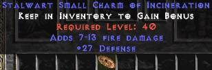 27-29 Defense w/ 7-13 Fire Damage SC