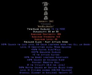 Infinity Thresher - Ethereal - 325-339% ED & -45-54% ELR - 0-14% ED Base