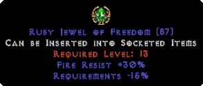 30 Fire Res / -15% Requirements Jewel
