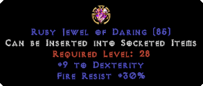 30 Fire Res / 9 Dexterity Jewel