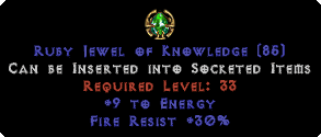 30 Fire Res / 9 Energy Jewel