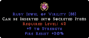 30 Fire Res / 9 Strength Jewel