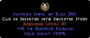 30 Cold Res / 10 Min Damage Jewel