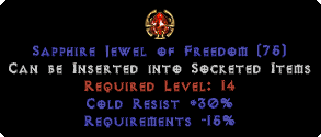 30 Cold Res / -15% Requirements Jewel
