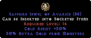 30 Cold Res / 30% Extra Gold Jewel