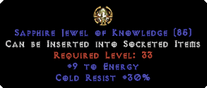 30 Cold Res / 9 Energy Jewel