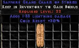 30 Resist Cold w/ 1-33 Lightning Damage GC