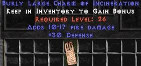 30 Defense w/ 10-17 Fire Damage LC