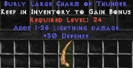 30 Defense w/ 1-25 Lightning Damage LC